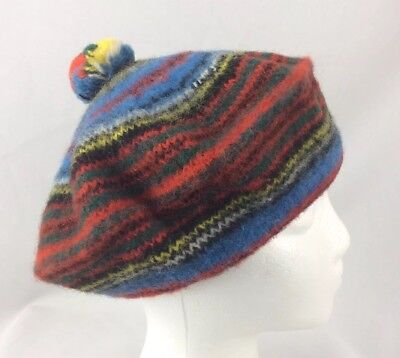 5777db931d7ea Vintage Anderson 100% Pure Wool Cap Made In Scotland Hat Beanie Pom Knit