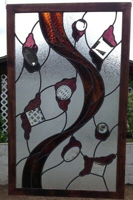 Contemporary Stained Glass Panel, Abstract Stained Glass,Modern Stained Glass