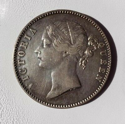 British India - One Rupee 1840 Victoria Queen -  Silver Coin