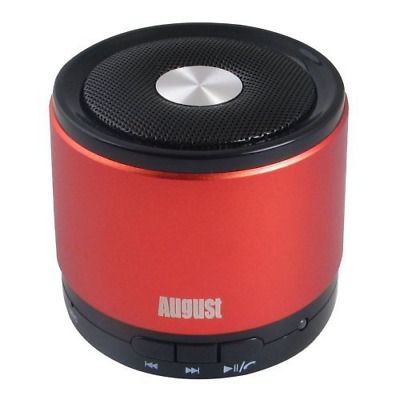 August MS425 Portable Bluetooth Wireless Speaker with Microphone  Powerful and C