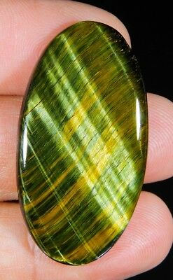 32 Ct Natural  Blue Pietersite Fire Tiger Eye Oval Cabochon Africa Gemstone A410