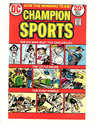 Champion Sports #1 (1973, DC) VF/NM Joe Simon Jerry Grandenetti