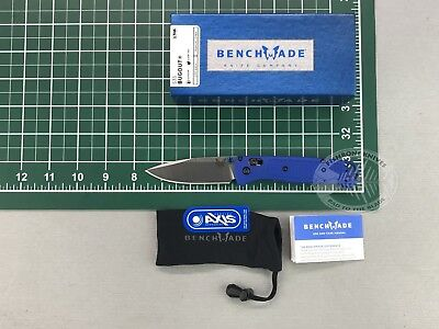 """Benchmade 535 Bugout AXIS 3.24"""" S30V Satin Plain Blade Blue Grivory Handle Knife"""