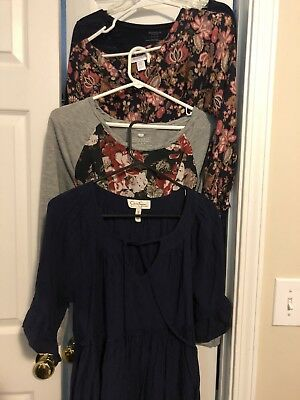 Lot Of 4 Medium Maternity Tops Great For Fall!