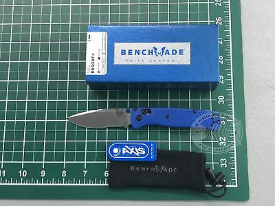 Benchmade 535S Bugout S30V Satin Combo Blue Handle AXIS Folding Knife DEALER