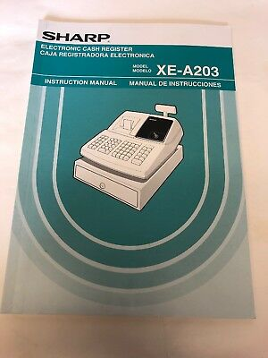 sharp xe a206 electronic cash register manual only 23 00 picclick rh picclick com Sharp XE A101 Cash Register POS Cash Registers for Small Business