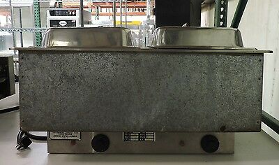 Atlas WIH-2 Commercial Electric Heated 2 Compartment Set-N-Serve Drop-In Hot Pan