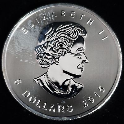 2015 Canada $5 Red-Tailed Hawk 1oz .9999 Silver Birds of Prey Series Coin 3CRT27