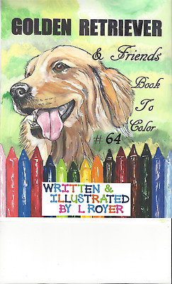 SIBERIAN HUSKY /& FRIENDS ART COLORING BOOK BY L ROYER  AUTOGRAPHED #70 BRAND NEW