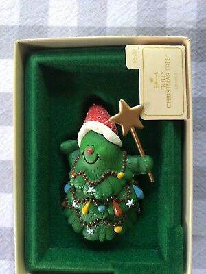 Hallmark 1982 Jolly Christmas Tree Ornament W/ Box Keepsake Tree Trimmer