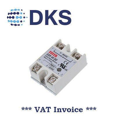 Solid State Relay Module SSR-40DD 40A /60V 3-32V DC Input 5-60VDC Output 001188