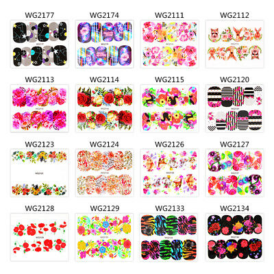 3 Sheets Decals Water Transfer 3D Flower Manicure Nail Art Stickers DIY Mtssii