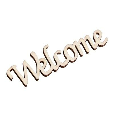 Welcome Printed Words Wooden Hanging Wall Chic Wood Hanger Hangtag Hanging Sign