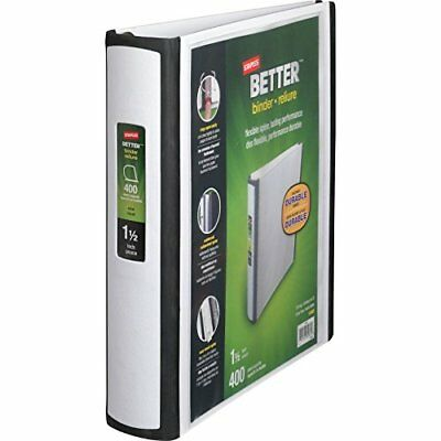 1 1 2 inch staples better view binders with d rings white 28 47