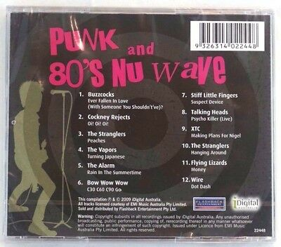 Sealed Punk and the 80s Nu Wave CD Various Artist Original Hits Aust Release NEW