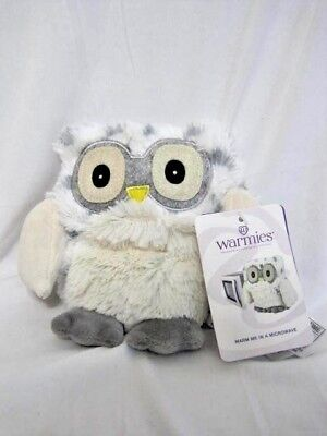 Intelex Warmies Hooty Snow Owl Jr Plush Lavender Scented Heat In Microwave