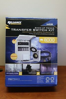 Reliance Back-Up Power 6-Circuit Complete Transfer Switch Kit Model 306LRK NEW