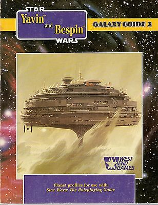 STAR WARS Roleplaying Game West End Games GALAXY GUIDE 2 Yavin and Bespin