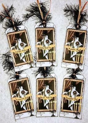Set of 8 Hang Tags~Halloween Silhouette~Gift Tags~Scrapbook~Cards~Crafts~#253