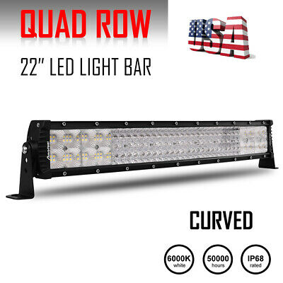 "22Inch 1170W Curved Tri Row Led Light Bar Spot Flood Combo UTE ATV 20"" 23"" 21"""