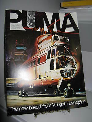 Puma SA330 Helicopter Vought Sales Brochure + Additional Papers VG