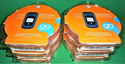 BRAND NEW! LOT OF 6 AT&T Z222 GoPhone - Dark Blue Prepaid Cellular Phone