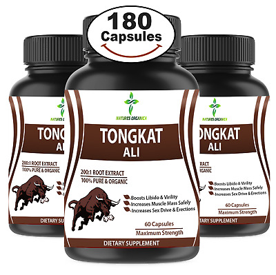 60 TONGKAT ALI Extreme Pills◇ 200:1 Root Extract