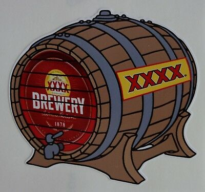 Xxxx Beer Keg Bumper Sticker For Mancave Fridge Esky Etc