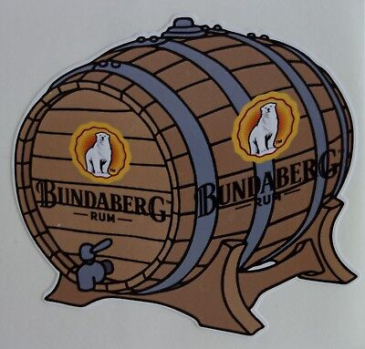 Bundaberg Rum Keg Barrell Bumper Sticker For Mancave Fridge Esky Etc