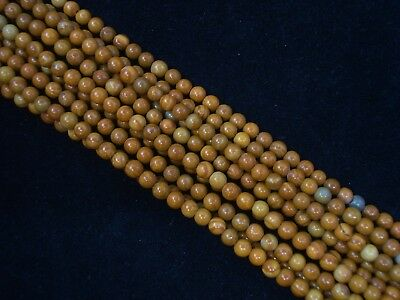 Gemstone Beads Gold Lace Agate 4mm Round Bead 35cm Strand FREE POSTAGE