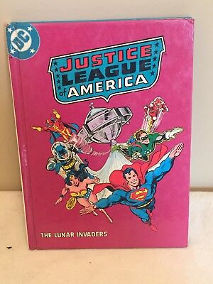 Vintage Justice League Of America The Lunar Invaders Hardcover 1982