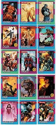 2015 Marvel Retro Fleer 1992 X-Men Impel Complete 15 Card Insert Chase Set