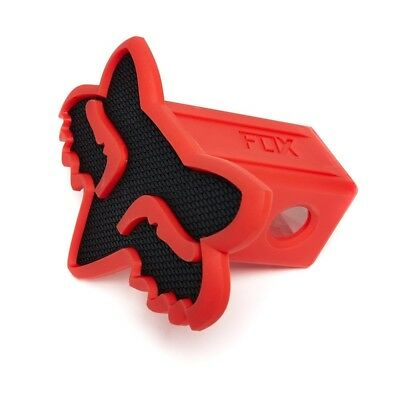 Fox Racing NEW Mx Car Towpoint Vehicle Black Red Foxhead Trailer Hitch Cover