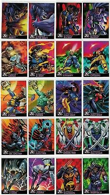 1995 X-Men All-Chromium Fleer Ultra Marvel Alternate X 20 Card Insert Chase Set