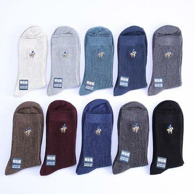 Men's Cotton Socks Solid Color Casual Business Tube Socks Winter Autumn US