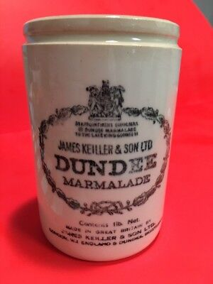 JAMES KEILLER & SONS DUNDEE MARMALADE Jam Wax Sealer CROCK POT Ceramic Pot 5""