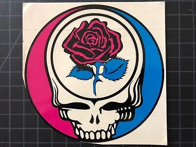 The Grateful Dead Jerry Garcia TOUCH OF GREY Steal Your Face window sticker 1989