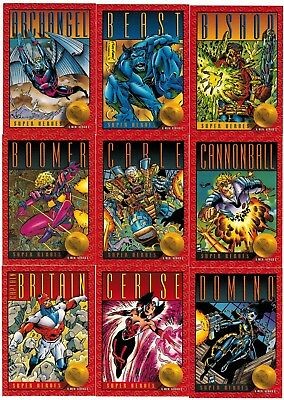 1993 X-Men Series Ii 2 Skybox Impel Marvel Complete Card Set #1-100