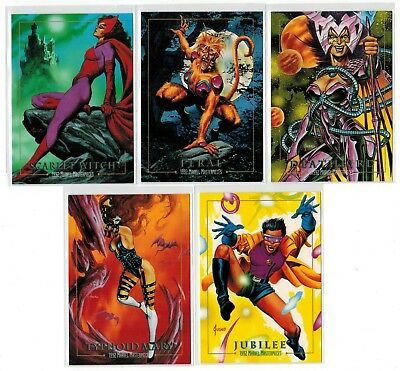 1992 Marvel Masterpieces Series I 1 Lost Cards 5 Chase Insert Complete Set