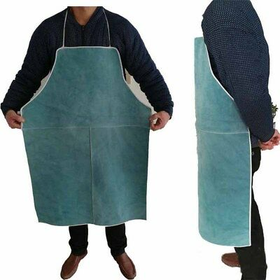 Cow Leather Welding Apron Anti-scald Long Coat Welder Heat Resistant Protector