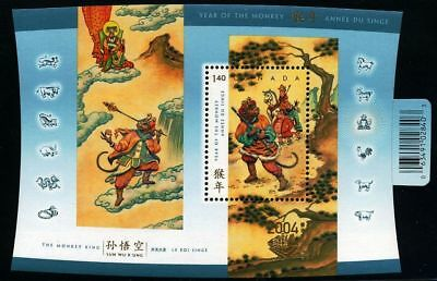 Canada -Souvenir sheet Overprtd -Chinese/Lunar New Year of the Monkey #2016a MNH