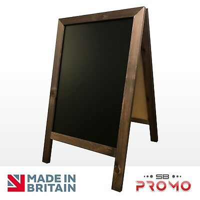 Large 100Cm X 65Cm Wooden A Board Chalkboard Pavement Sign Sandwich Pub Cafe Sb)