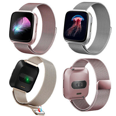 For Fitbit Versa Wrist Strap Watch Band Magnetic Milanese Mesh Wristband