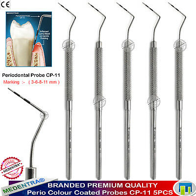 5PCS Dental CP-11 Periodontal Probe Tooth Hygienist Pocket Depth Marking Scalers