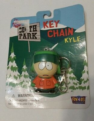 1998 South Park Key Chain KYLE Unopened Package Comedy Central Fun4All
