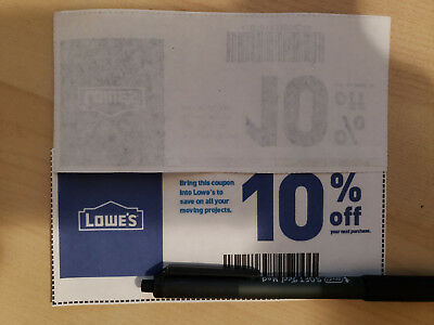 (5-Pack) Five Lowe's 10% OffCoupons Expires 10-31-18 (FAST)