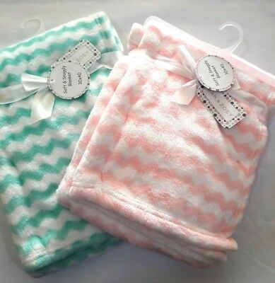 PERSONALIZED Baby Girl Minky Blanket Pink & Blue **Newborn Baby, Shower Gift.**