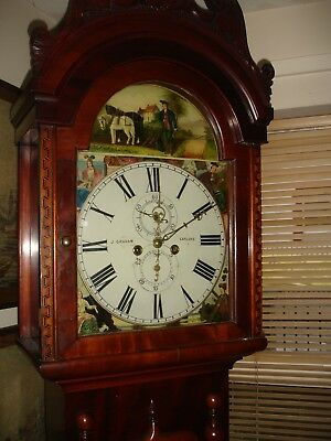 19th CENTURY MAHOGANY SCOTTISH LONGCASE CLOCK JOHN GRAHAM OF CARLUKE UTUBE VIDEO