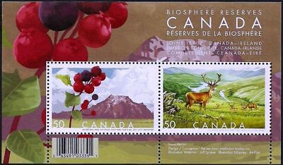 Canada Stamps — Souvenir sheet — Biosphere Reserves  #2106b — MNH