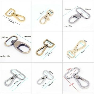 2/10/20 Metal Lobster Clasps Clips Handbag Bag Hooks Swivel Snap Buckle Trigger